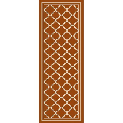 Osage Rust Indoor/Outdoor Area Rug Rug Size: Runner 27 x 73
