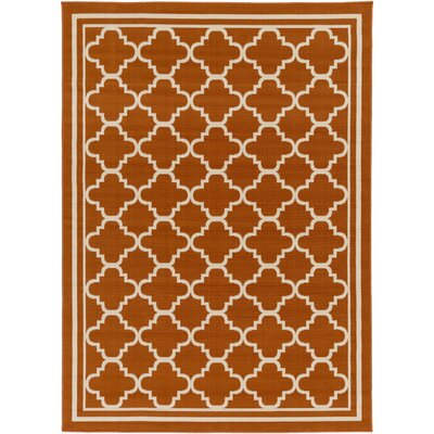 Osage Rust Indoor/Outdoor Area Rug Rug Size: 67 x 96