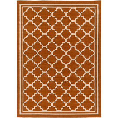 Osage Rust Indoor/Outdoor Area Rug Rug Size: 53 x 73