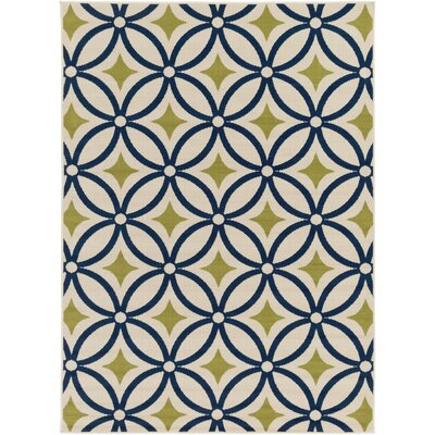 Osage Navy Indoor/Outdoor Area Rug Rug Size: 53 x 73