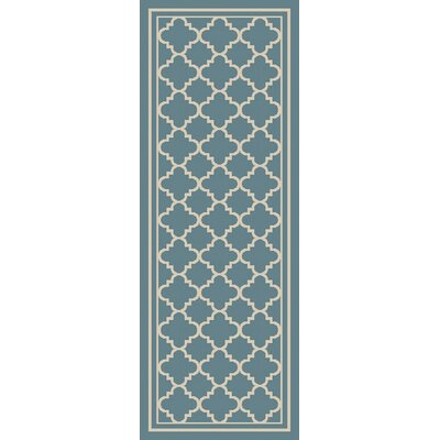 Osage Slate Indoor/Outdoor Area Rug Rug Size: Runner 27 x 73
