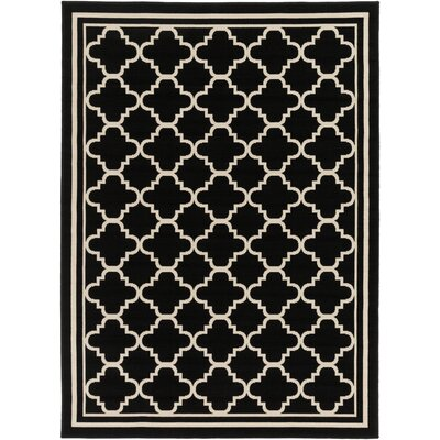 Osage Black Indoor/Outdoor Area Rug Rug Size: Rectangle 93 x 126