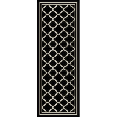 Osage Black Indoor/Outdoor Area Rug Rug Size: Runner 27 x 73