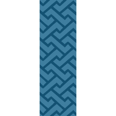 Packard Hand-Loomed Teal Area Rug Rug Size: Runner 26 x 8