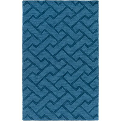 Packard Hand-Loomed Teal Area Rug Rug Size: Rectangle 33 x 53