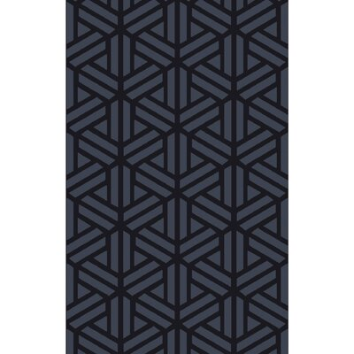 Peever Hand-Loomed Navy Area Rug Rug size: Rectangle 8 x 11