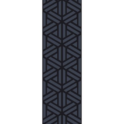 Peever Hand-Loomed Navy Area Rug Rug size: Runner 26 x 8