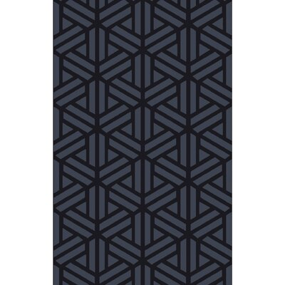 Peever Hand-Loomed Navy Area Rug Rug size: 33 x 53