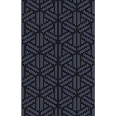 Peever Hand-Loomed Navy Area Rug Rug size: 9 x 13