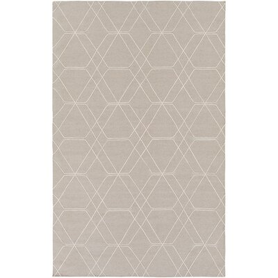 Robin Hand-Woven Taupe/Pale Blue Area Rug Rug size: Rectangle 36 x 56