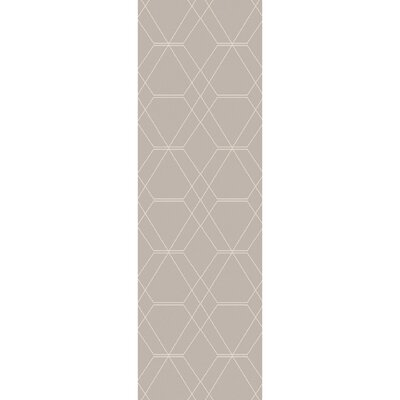 Robin Hand-Woven Taupe/Pale Blue Area Rug Rug size: Runner 26 x 8