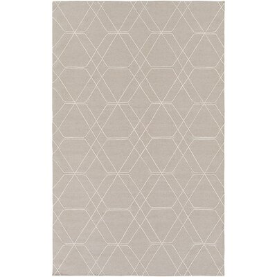 Robin Hand-Woven Taupe/Pale Blue Area Rug Rug size: 9 x 13