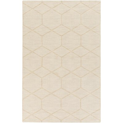 Peever Hand-Loomed Khaki Area Rug Rug size: Rectangle 2 x 3