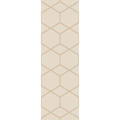 Peever Hand-Loomed Khaki Area Rug Rug size: Runner 26 x 8