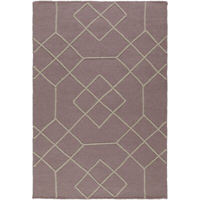Robin Hand-Woven Mauve/Taupe Area Rug Rug size: Rectangle 2 x 3