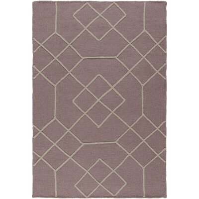 Robin Hand-Woven Mauve/Taupe Area Rug Rug size: Rectangle 8 x 10
