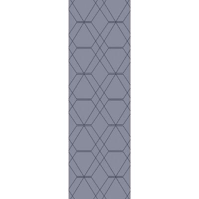 Robin Hand-Woven Medium Gray/Pale Blue Area Rug Rug size: Runner 26 x 8