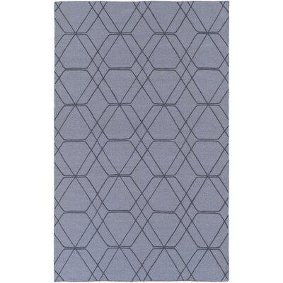 Robin Hand-Woven Medium Gray/Pale Blue Area Rug Rug size: 5 x 76