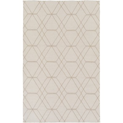 Robin Hand-Woven Cream Area Rug Rug size: Rectangle 5 x 76