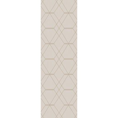 Robin Hand-Woven Cream Area Rug Rug size: Runner 26 x 8