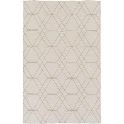 Robin Hand-Woven Cream Area Rug Rug size: 5 x 76
