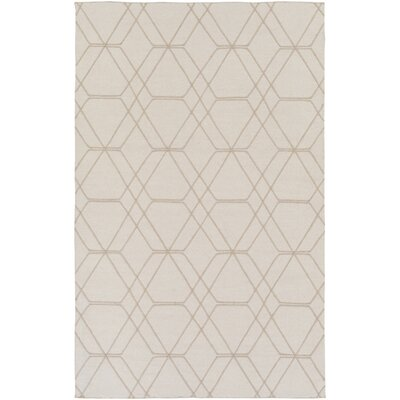 Robin Hand-Woven Cream Area Rug Rug size: 9 x 13