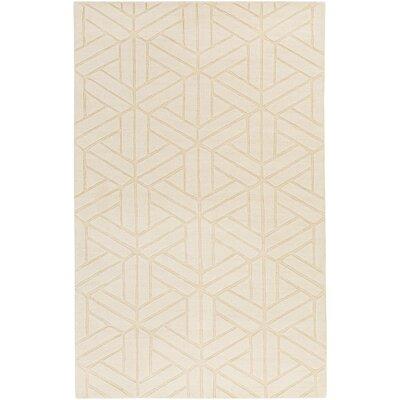 Peever Hand-Loomed Khaki Area Rug Rug size: 8 x 11
