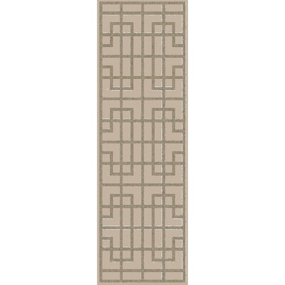 Peever Hand-Loomed Medium Gray Area Rug Rug size: Runner 26 x 8