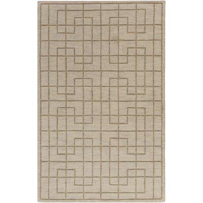 Peever Hand-Loomed Medium Gray Area Rug Rug size: 33 x 53