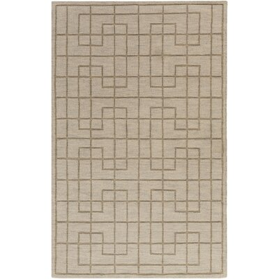 Peever Hand-Loomed Medium Gray Area Rug Rug size: 5 x 8