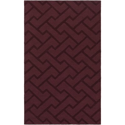 Peever Hand-Loomed Eggplant Area Rug Rug size: Rectangle 33 x 53