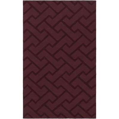 Peever Hand-Loomed Eggplant Area Rug Rug size: Rectangle 8 x 11
