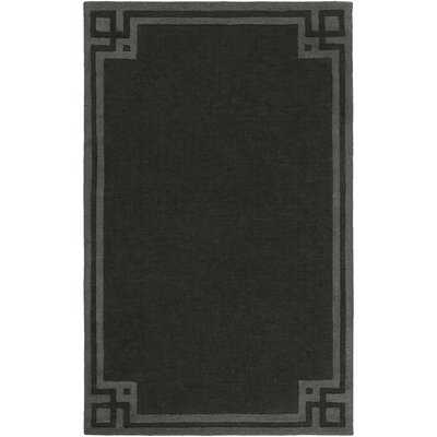 Peever Hand-Loomed Black Area Rug Rug size: 5 x 8