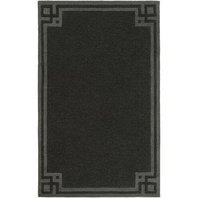 Peever Hand-Loomed Black Area Rug Rug size: 8 x 11