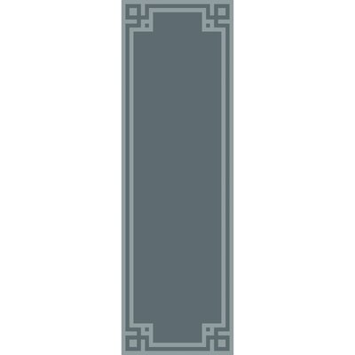 Peever Hand-Loomed Teal Area Rug Rug size: Runner 26 x 8