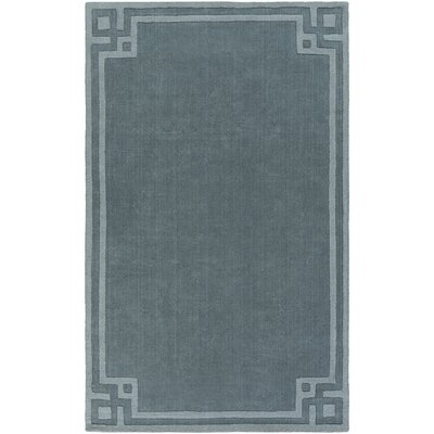 Peever Hand-Loomed Teal Area Rug Rug size: Rectangle 5 x 8