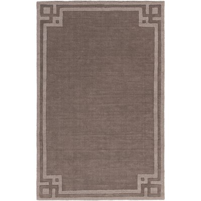 Peever Hand-Loomed Charcoal Area Rug Rug size: 5 x 8