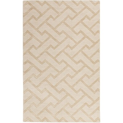 Peever Hand-Loomed Khaki Area Rug Rug size: Rectangle 33 x 53