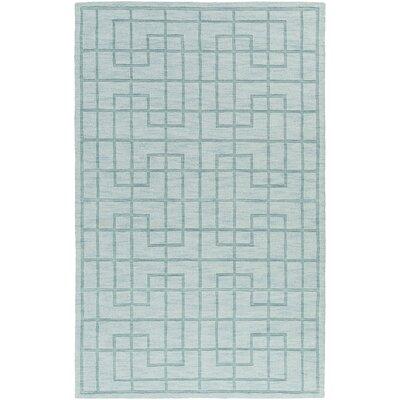 Peever Hand-Loomed Aqua Area Rug Rug size: 33 x 53