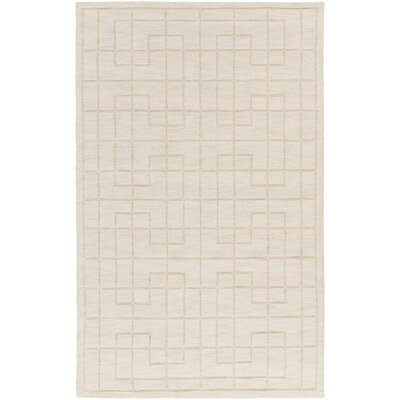 Peever Hand-Loomed Khaki Area Rug Rug size: Rectangle 5 x 8
