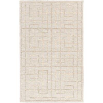 Peever Hand-Loomed Khaki Area Rug Rug size: 5 x 8