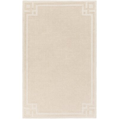 Peever Hand-Loomed Beige Area Rug Rug size: Rectangle 5 x 8