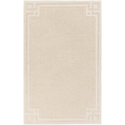 Peever Hand-Loomed Beige Area Rug Rug size: 5 x 8