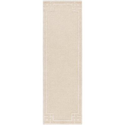 Peever Hand-Loomed Beige Area Rug Rug size: Runner 26 x 8