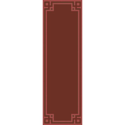 Peever Hand-Loomed Rust Area Rug Rug size: Runner 26 x 8