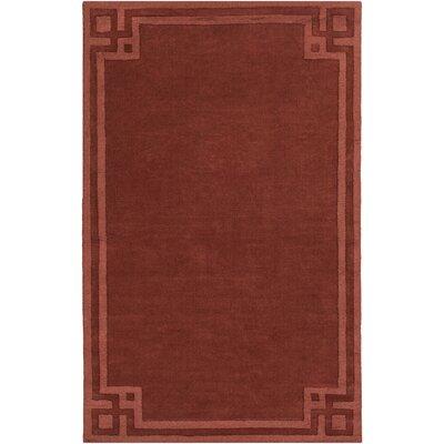 Peever Hand-Loomed Rust Area Rug Rug size: 8 x 11