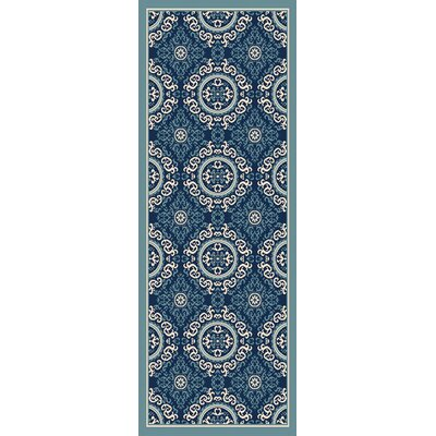 Roulston Blue Indoor/Outdoor Area Rug Rug Size: Runner 27 x 73