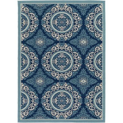 Roulston Blue Indoor/Outdoor Area Rug Rug Size: 53 x 73