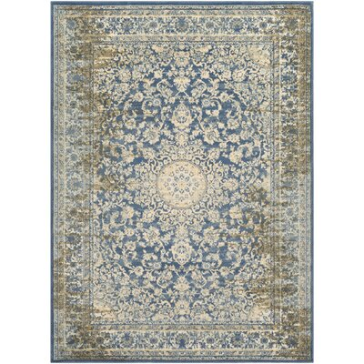 Netta Blue/Cream Area Rug Rug Size: 8 x 10