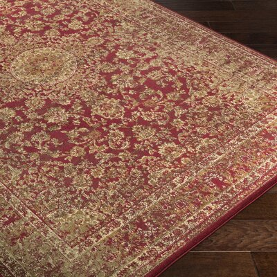 Netta Red/Brown Area Rug Rug Size: Rectangle 5 x 76